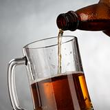 Glass of classic beer