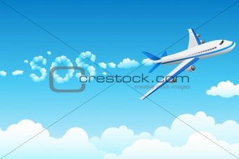 aeroplane with cloudy sos