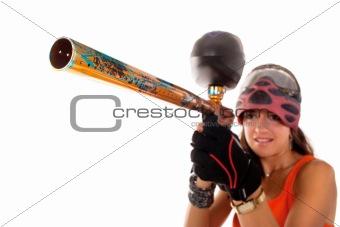 Paintball girl