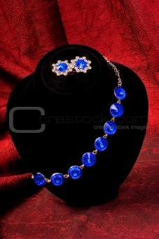 Bracelet with blue gem