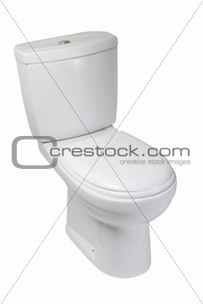 Toilet bowl, isolated on white