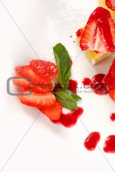 Slices of strawberry
