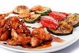Tepan-Yaki meat and vegetables