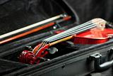 Violin and bow in black case