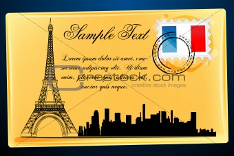 eiffel tower on envelope