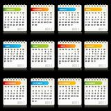 calendars on abstract background