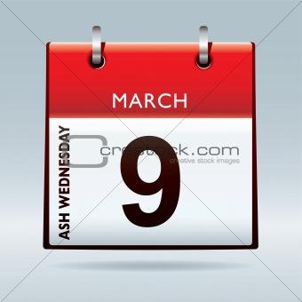 Ash Wednesday Calendar