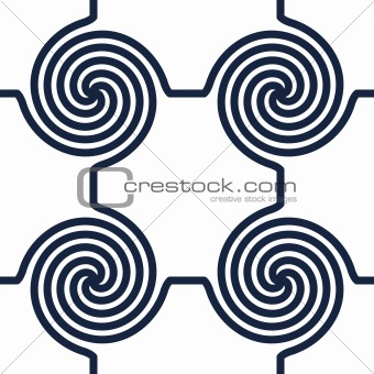 Black-and-white abstract background with circle swirls