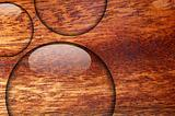 water drop on wood surface