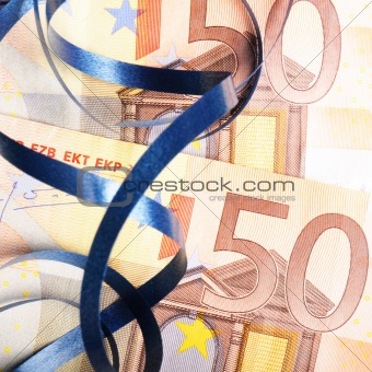 money gift with ribbon