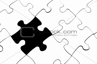 blank puzzle with missing piece