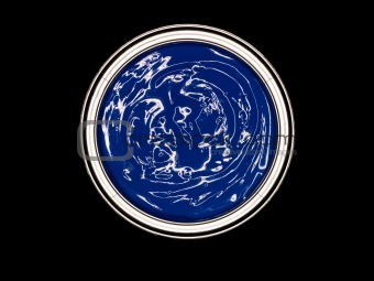 Blue Paint can from above