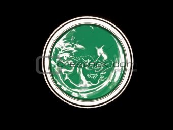 Green Paint can from above