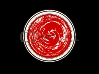 Red Paint can from above