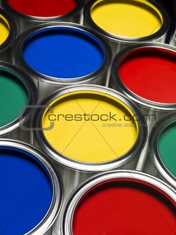Paint cans full frame