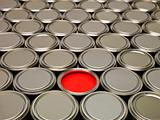 Full Frame of Paint Cans