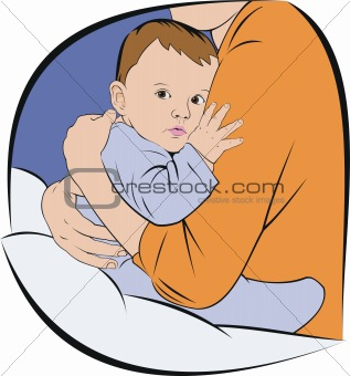 baby at mothers hands