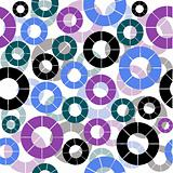 Retro background seamless with circles