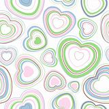 Hearts seamless pattern.