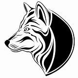 Wolf, tribal tattoo