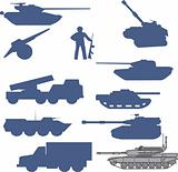 set tanks collection - vector