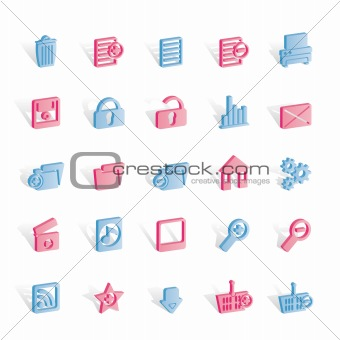 25 Detailed Internet Icons