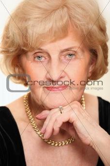 Beautiful senior lady