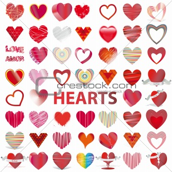 set HEARTS vector