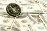 Dollars and compass.