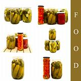 pickled vegetables in glass jar