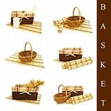 set of different basket