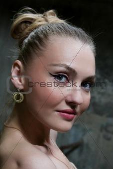 Portrait of beautiful white woman