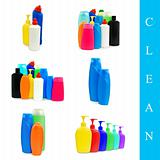 plasrtic bottles set