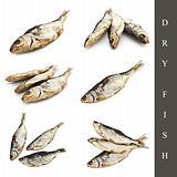 dry fish set