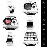 gas cooker set