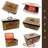 set of old chests