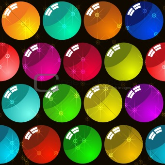 Background with glass multicolor balls
