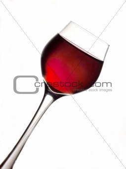 One red wine glass