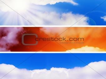 sky banners