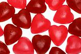 Bunch of jelly heart shape candy