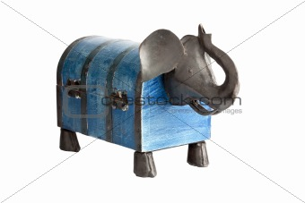 Box shaped like elephant