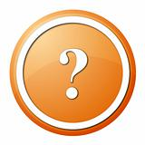 orange question mark round button