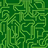 Background with conductor on computer circuit board