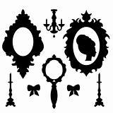 Saroque silhouettes set.