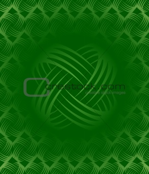 Green Ornate Tile-able Wallpaper