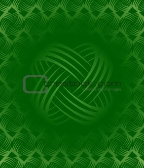 Green Ornate Tile-able Wallpaper