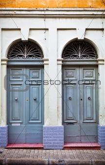 Beautiful town house doorways in Malta
