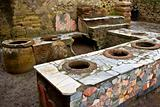 A  thermopolium in Herculaneum (near Naples, in Italy)
