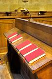 Choir chapel. Detail of hymnal books