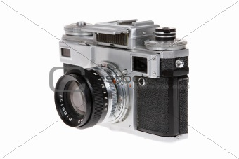 "Dusty old Soviet camera ""Kiev 4a"""